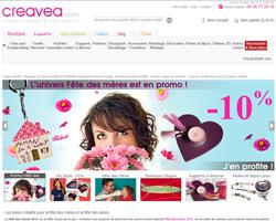 Page d'accueil de Creavea