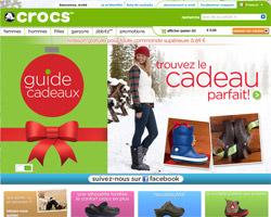 Page d'accueil de Crocs