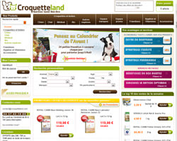 Page d'accueil de Croquetteland