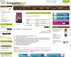 Une fiche produit de Croquetteland