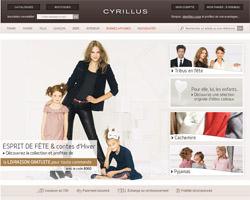 Page d'accueil de Cyrillus