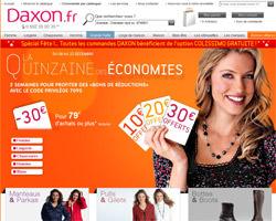 Page d'accueil de Daxon