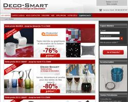 Page d'accueil de Deco-Smart