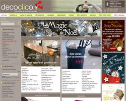 Page d'accueil de Decoclico