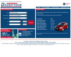 Page d'accueil de Dégriftour