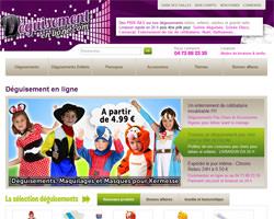Page d'accueil de Déguisement en ligne