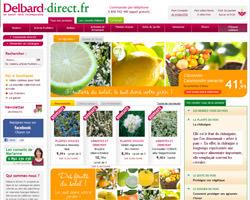 Page d'accueil de Delbard