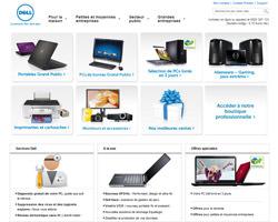 Page d'accueil de Dell