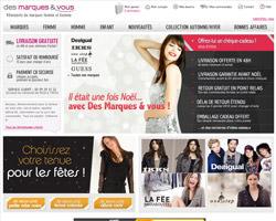 Page d'accueil de Des marques et vous
