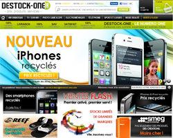 Page d'accueil de Destock-One