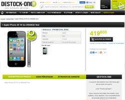 Une fiche produit de Destock-One
