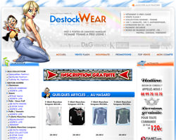 Page d'accueil de Destockwear