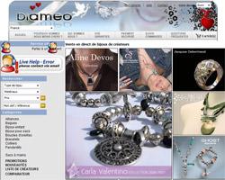Page d'accueil de Diameo