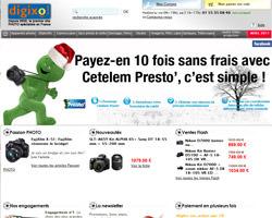 Page d'accueil de Digixo