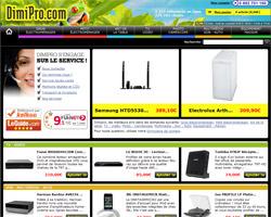 Page d'accueil de Dimipro