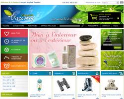 Page d'accueil de DiscoveryDream