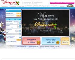 Page d'accueil de Disneyland Paris