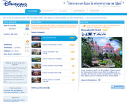 Une fiche produit de Disneyland Paris