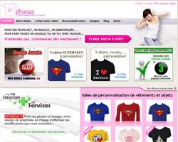 Page d'accueil de Divao