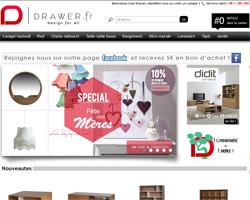 Page d'accueil de Drawer