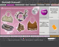 Page d'accueil de Dupond Durand