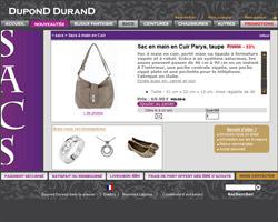 Une fiche produit de Dupond Durand