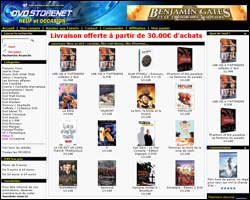 Page d'accueil de Dvdstorenet