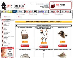 Page d'accueil de DvfStore