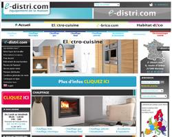 Page d'accueil de E-Distri