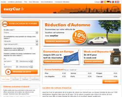 Page d'accueil de easyCar