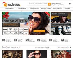 Page d'accueil de EasyLunettes