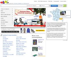 Page d'accueil de eBay