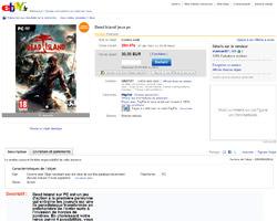 Une fiche produit de eBay