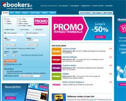 Page d'accueil de ebookers