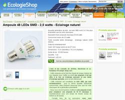 Une fiche produit de Ecologie Shop