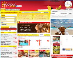 Page d'accueil de Ecotour