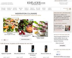 Page d'accueil de Edelices