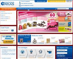Page d'accueil de Editions Atlas