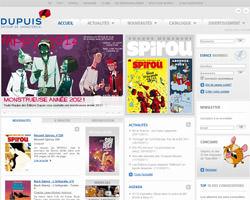 Page d'accueil de Editions Dupuis
