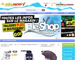 Page d'accueil de Ekosport