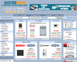 Page d'accueil de Electromalin