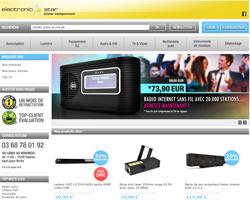 Page d'accueil de Electronic Star