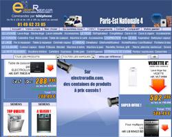 Page d'accueil de Electroradin
