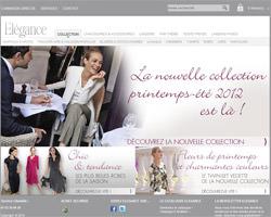 Page d'accueil de Elégance