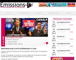 Page d'accueil de Emissions-TV