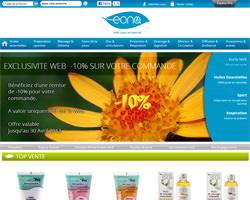 Page d'accueil de Eona