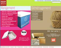 Page d'accueil de Equip Store
