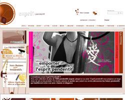 Page d'accueil de Esprit Pendentif