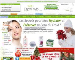 Page d'accueil de Esprit Phyto