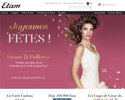 Page d'accueil de Etam